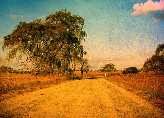 The Bend in the Road by the Willow Tree by Kitsmumma