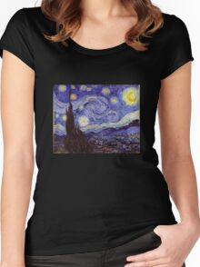 Vincent Van Gogh Starry Night Women's Fitted Scoop T-Shirt