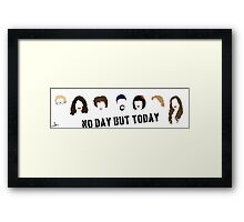 Rent Musical- No Day But Today Framed Print