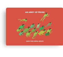 An Army of Frogs Canvas Print
