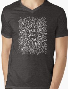 Whatever Will Be, Will Be (Black & White Palette) Mens V-Neck T-Shirt