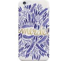Pardon My French – Navy & Gold iPhone Case/Skin