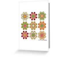 Melon Foot Flowers Greeting Card