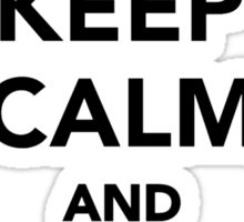 Keep calm and love Greyhounds Sticker