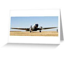 DC-3 Starts up Greeting Card