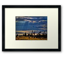Skyline Trail Evening Framed Print