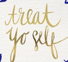 Treat Yo Self – Navy Sticker