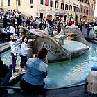 The Barcaccia Fountain of Rome by HELUA