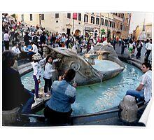 The Barcaccia Fountain of Rome Poster