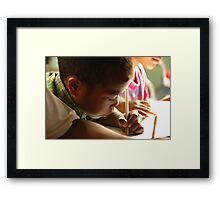 Poverty & Education Framed Print