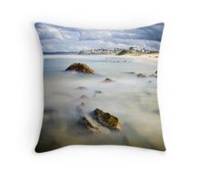 Bar Beach Throw Pillow