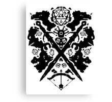 Roleplaying Rorschach Canvas Print