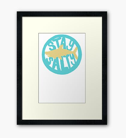 Shark Design Framed Print