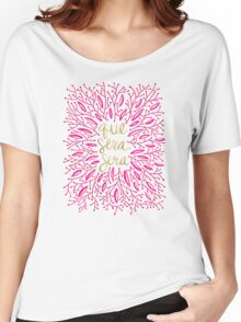 Whatever Will Be, Will Be (Pink & Gold) Women's Relaxed Fit T-Shirt