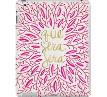 Whatever Will Be, Will Be (Pink & Gold) iPad Case/Skin