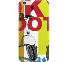 Tokyo Scooter Rally Poster  iPhone Case/Skin