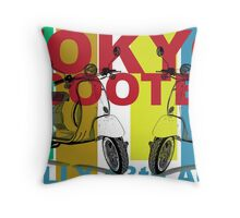 Tokyo Scooter Rally Poster  Throw Pillow
