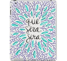 Whatever Will Be, Will Be (Navy & Turquoise) iPad Case/Skin