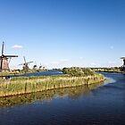 Kinderdijk - Octagonal Thatched Mills by tdako