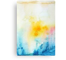 Blue Yellow Abstract Canvas Print