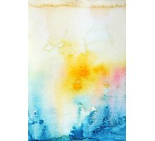 Blue Yellow Abstract Photographic Print