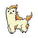 Alpacamon - Ponyta by missbrodrick