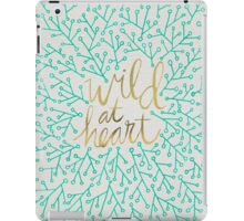Wild at Heart – Turquoise & Gold iPad Case/Skin