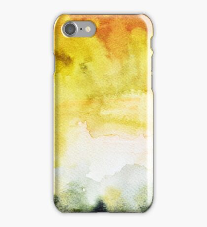 Yellow Green Abstract iPhone Case/Skin