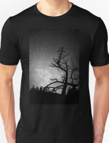 Astrophotography Night Black and White Portrait View T-Shirt