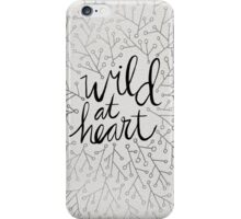 Wild at Heart – Silver iPhone Case/Skin