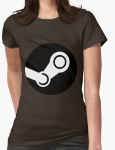 Modern Steam Logo - High Fidelity Womens Fitted T-Shirt