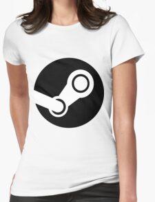 Modern Steam Logo - High Fidelity Womens Fitted T-Shirt