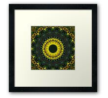 Large Yellow Wildflower Kaleidoscope Art 8 Framed Print