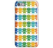Rainbow Robots holding hands iPhone Case/Skin