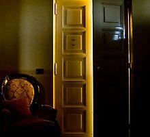 sunset light through my door by Andrea Rapisarda