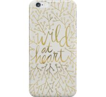 Wild at Heart – Gold on White iPhone Case/Skin