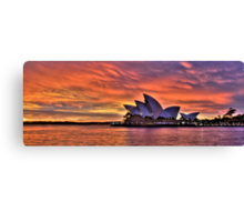 Greeting The Morn- The Photographers Cut  - Moods Of A City - The HDR Series Canvas Print