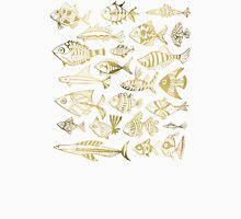 Gold Inked Fish Unisex T-Shirt