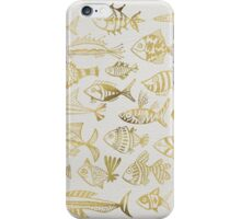 Gold Inked Fish iPhone Case/Skin