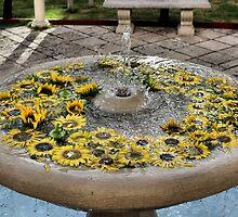 Sunflower Fountain by Maureen Zeballos