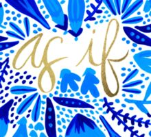 As If – Navy & Gold Sticker