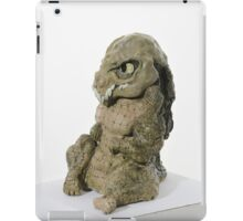 Crocodilian sculpture (coloured) iPad Case/Skin