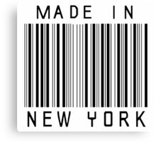 Made in New York Canvas Print