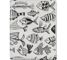 Black Inked Fish iPad Case/Skin