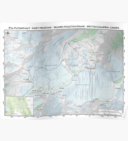 Fairy Meadows - Bill Putnam Hut Topo Map Poster