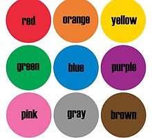 Colors BRIGHTS! English by candymoondesign