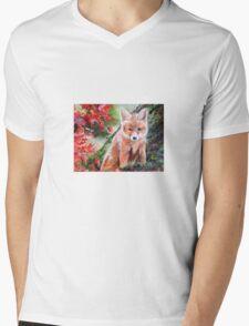 Fox cub  Mens V-Neck T-Shirt