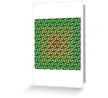 Fractal Fusion - In Ochre, Lime and Green Greeting Card