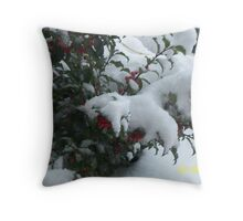 Red Berries Buried Throw Pillow