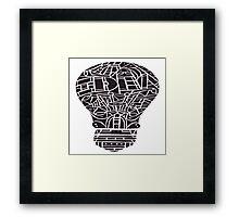 Idea Light Bulb Framed Print